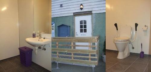 Sanitærrom for reisande